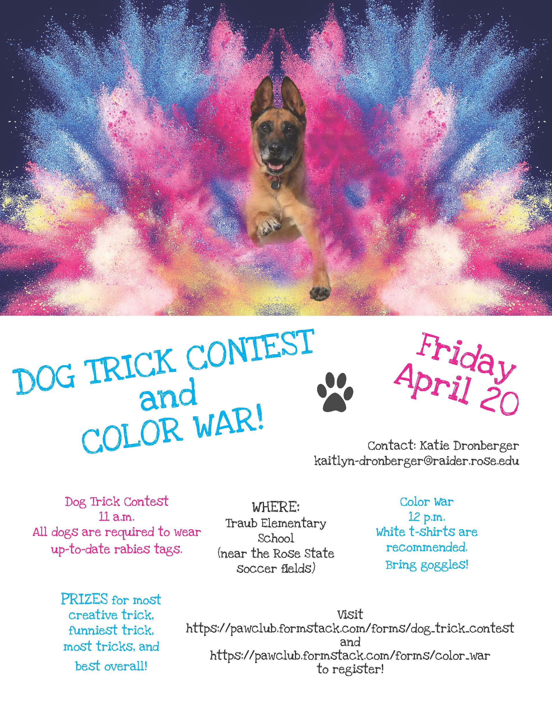 Dog Trick Contest and Color War