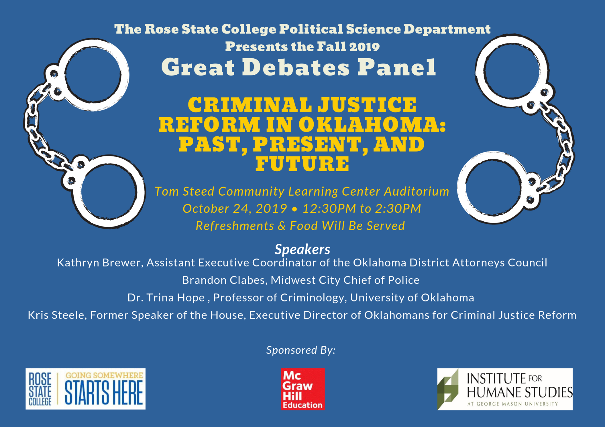 Criminal Justice Reform in Oklahoma - Great Debate Panel