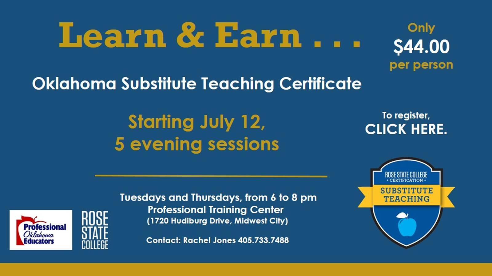 Learn Earn Oklahoma Substitute Teaching Certificate