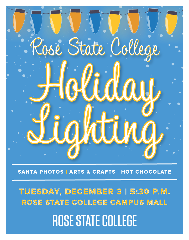 2019 Holiday Lighting Event  December 3, 5:30 PM in the Campus Mall