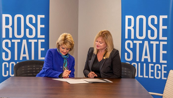 Rose State MOU signing with DOL