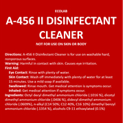 disinfectant label