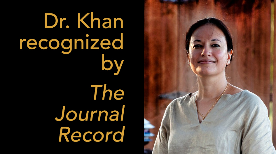 Dr. Khan recognized by The Journal Record