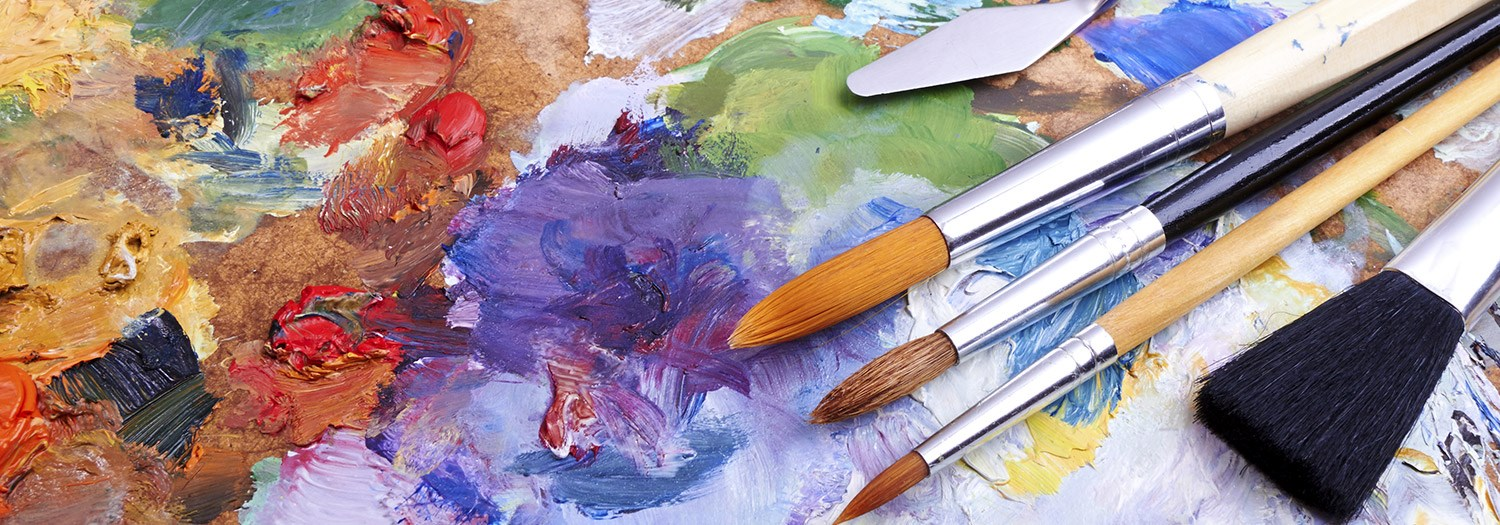 brushes and an artist's palette