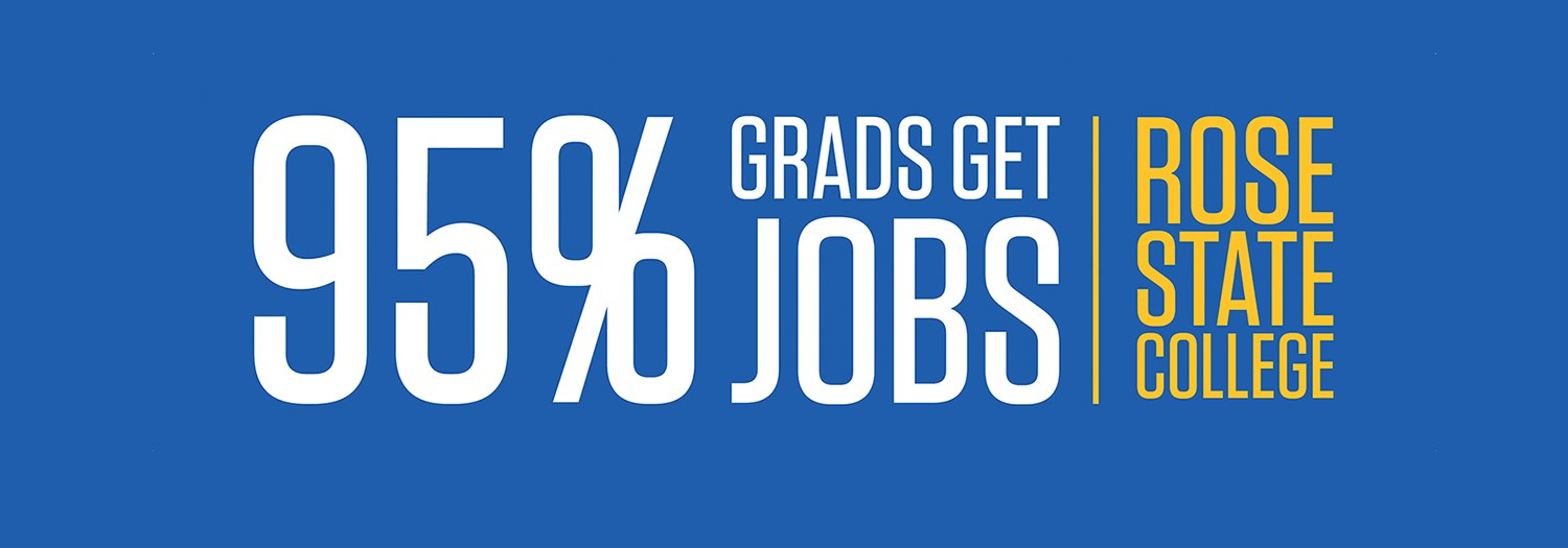 "banner image that says ""95% graduates get jobs"""