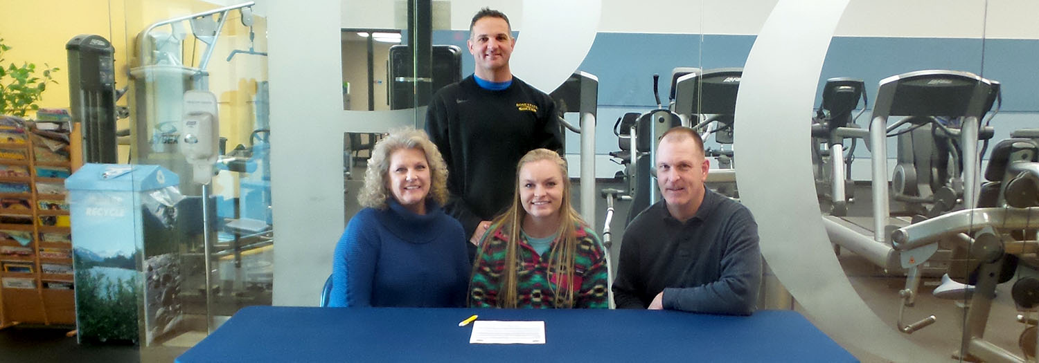 Karlee Johnston, parents and coach
