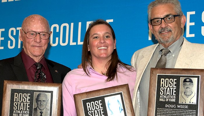 Three Athletic Greats Honored As First Inductees Into Rose State College Athletic Hall Of Fame