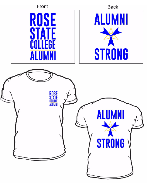 Shows front and back of Alumni Tshirt