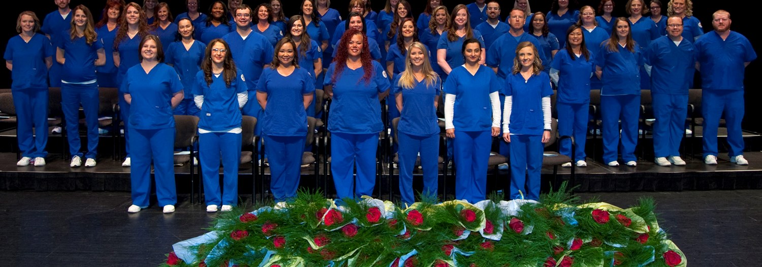 nursing graduates posed for group photo