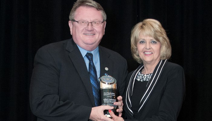 Rose State President Awards OEM Director with 1st Responder Education Award