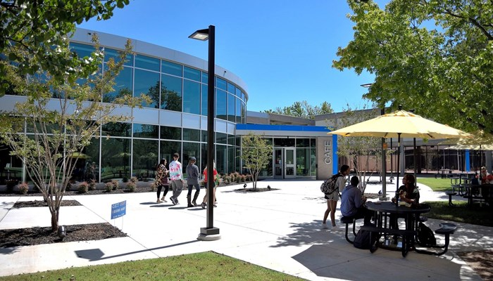 Exterior view of the remodeled LRC building