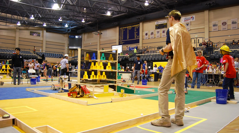 Student competes at a Robotics Competition at Auburn University