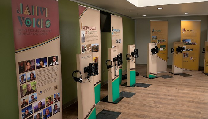 native voices exhibit in LRC