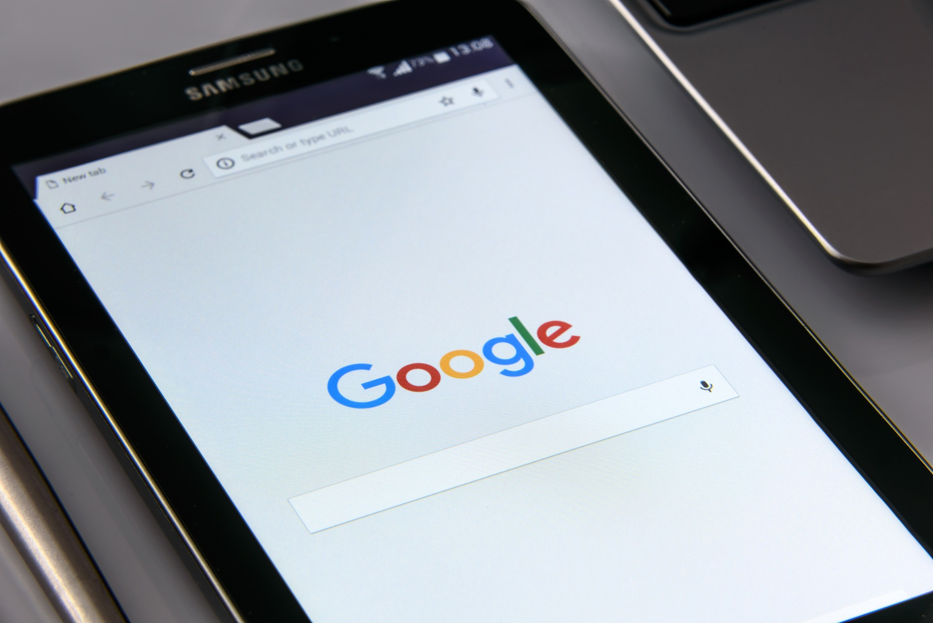 Google search open on a mobile device