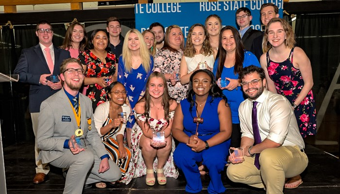 Outstanding Students Recognized during Student Life Banquet