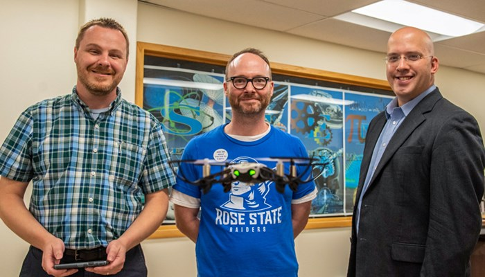 Steve Fowler Guy Crain and Brandon Burres with drone